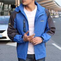 冲锋衣男运动户外服薄款单层外套外贸夹克运动服可定做一件代发