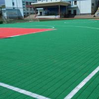 供应大理软连接悬浮地板/pp软连接拼装地板厂家