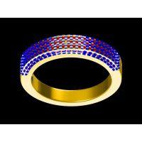 999银镶嵌黄水晶女式戒指生产 个性戒指 男 包邮 —复古首饰生产