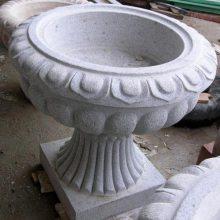 厂家直销石雕花钵 花岗岩花盆雕刻 定制深圳石花盆加工