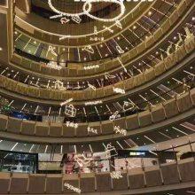铭星灯饰厂家直销现代简约不锈钢LED球中球吊饰商场中厅景观装饰灯具美陈