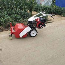亚博国际真实吗机械 自走式手扶式碎草还田机机 农用自走式果园碎草机 电启动柴油碎草机