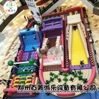 大型充气玩具,陆地闯关新款U型赛道给孩童无限快乐