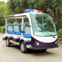 安步优品ABLQY081A 三排座电动巡逻车 8座敞开式公交座椅款电动巡逻车厂家直销