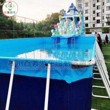 江西上饶农庄开建大型水上乐园,移动支架游泳池成人专属圣地