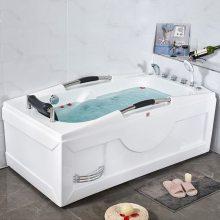 亚克力裙边浴缸 三角扇形成人浴盆双人按摩浴池家用龙头0.8~1.5米