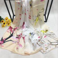 真丝围巾春夏季新款礼品丝巾女士桑蚕丝丝巾可做披肩两用厂家批发
