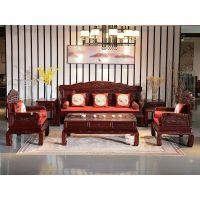 新中式红木家具 老挝红酸枝 巴里黄檀沙发价格 红木家具装修效果 黑酸枝组合沙发价格