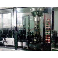 葡萄酒冲瓶、灌装、打塞三联机 鲁鸿自动化GDP18-16-1灌装机