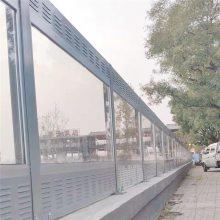 河南声屏障厂濮阳景观大桥高速公路百叶板玻璃金属声屏障款式颜色齐全