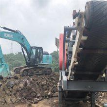 輪胎式混凝土破碎機 日產150方建筑垃圾破碎機廠家