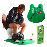 外销爆款休闲娱乐马桶迷你厕所高尔夫套餐高尔夫球儿童玩具eBay热