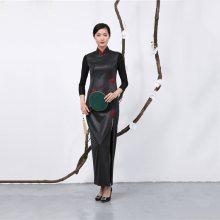 缎面香云纱旗袍连衣裙厂家采购控制_元亨服饰