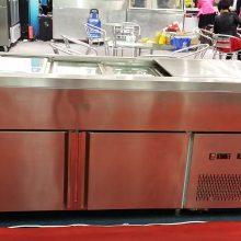 1.8米冷汤池保鲜柜 汤池规格 港式甜品尺寸 甜品加速器 不锈钢冷热汤池 定制汤池冷柜
