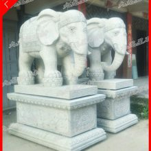 石象多少钱一对 石雕汉白玉大象厂家