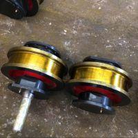 河南 铸钢55号起重机车轮组 双边大行车轮 轨道 角箱轮