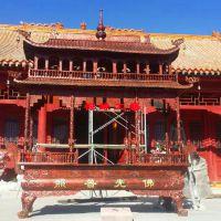 供应铸铁两层长方形八龙柱香炉/广东韶关念佛堂祠堂大型香炉订购