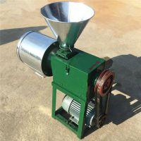 低噪音小型磨面机 小麦玉米去皮面粉机 卧式磨面机