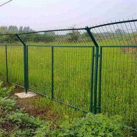 道路两旁防护网 公路护栏网 绿色圈地网
