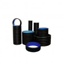 HDPE双壁波纹管 钢带增强PE螺旋管 塑钢中空壁缠绕管 PVC排污水管