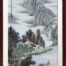 高级餐厅艺术挂画 包厢背景墙装饰画 欧式风格瓷板画