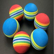 供应 EVA球EVA彩虹球 宠物玩具球高尔夫练习球条纹球