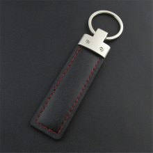 定制广告促销小礼品金属皮钥匙扣 厂家定做PU皮质钥匙扣挂件 真皮钥匙扣挂件