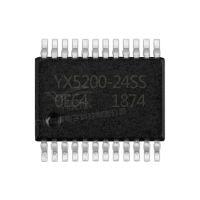 YX5200-24SSMP3语音ic芯片解码mp3播报串口芯片24脚挂载TF卡原厂
