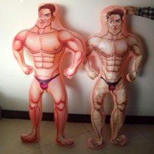 东莞桥头电压工厂定制充气男性人偶玩具 PVC充气大力士男人玩偶