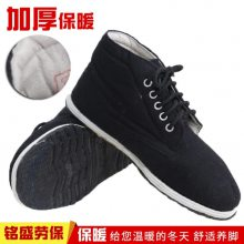 厂家直销3520黑色高帮棉布鞋冬季棉质加厚内里老式黑棉鞋