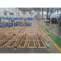 三层80kg/层固联线棒式立体仓库货架,型号2*2*2m,轻型货架