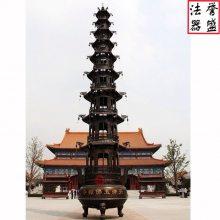 【誉盛法器】温州宝鼎厂家 圆形二层宝鼎 圆形九层宝鼎