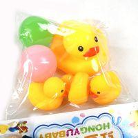 儿童戏水玩具 捏捏叫小鸭套装 浴室洗澡鸭子组合 地摊赶集热卖