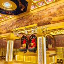 福建盛古古建吊顶 寺庙装修吊顶材料 家装佛堂吊顶 彩绘天花板