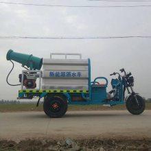 新能源电动三轮洒水车 小型多功能环卫洒水车带雾炮生产厂家