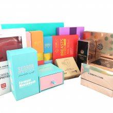 彩色包装盒定做logo瓦楞飞机盒礼品纸盒内裤袜子天地盖抽屉盒定制