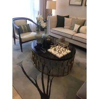 酒店成套家具组合沙发茶几小圆几