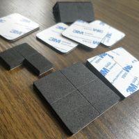 EVA泡棉单面胶9448强力胶 3M自粘垫片黑色正方形厚2mm 定做模切加工厂深圳创新高轻胶