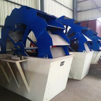 仲程水洗沙机设备 河沙水轮式洗沙机 洗砂机制造厂家