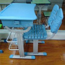 河南热销学生塑钢课桌椅、郑州单人升降课桌椅图片