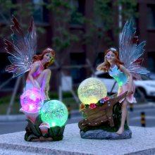 欧式太阳能园林花仙子花园小夜灯 仿真工艺礼品 创意树脂家居工艺品摆件