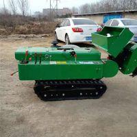 易操作柴油电启动果园开沟施肥机/农田果树有机肥机/柴油履带式开沟施肥机