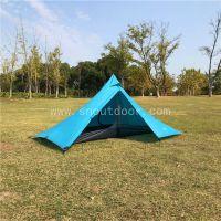 山牛塔 单人金字塔帐篷 户外野营装备 防暴雨无杆帐篷
