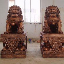 供应铜狮子摆件 大型天安门故宫狮子 风水铜动物雕塑