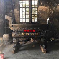 铸铜长方形平口香炉 广东河源宗祠铜香炉供应商