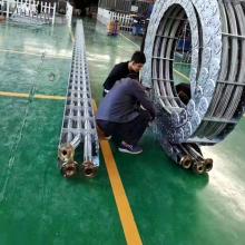 山东钢制拖链 机床油管金属拖链 坦克链行走线槽厂家