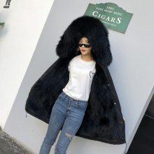 女装冬新款派克服女中长款时尚品牌折扣店***女装清仓剪标