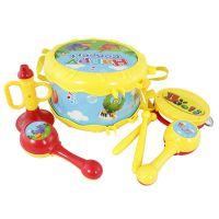 宝丽1226六件套欢乐乐器组合套装腰鼓摇铃早教益智儿童音乐玩具