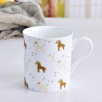 浩新工厂定制骨瓷礼品水杯 2019新款陶瓷马克杯 奶茶杯加logo