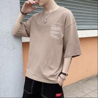 潮男T恤几元T恤时尚宽松大版T恤便宜纯棉T恤库存杂款男装短袖外贸服装批发